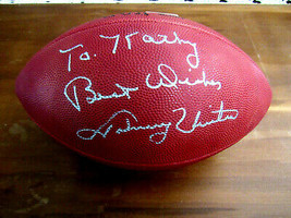 JOHNNY UNITAS SBC BALTIMORE COLTS HOF SIGNED AUTO WILSON NFL PRO FOOTBAL... - $346.49