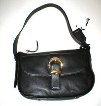 NWT New Womens DKNY Black Zip Hobo Bag Handbag Logo Work Leather Bessie ... - $156.60