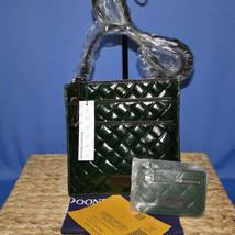 Dooney & Bourke Woven Triple Zip Crossbody & Coin Purse Forest Green