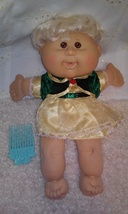 CPK Cabbage Patch Kids Doll Holiday Babies Blonde 2006 Play Along & Comb - $14.99