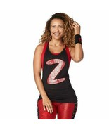 Zumba Womens y Open Back Breathable Workout Tank Top, Black BB, L, Team ... - $62.71
