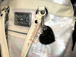 Coach Poppy ~ Pearl Opal Sequins Large Highlight Bag Tote ~ Patent Leather Trim image 7