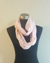 Pink and White Chevron Stripe Lightweight Sheer Infinity Cowl Womens Scarf  - €7,30 EUR
