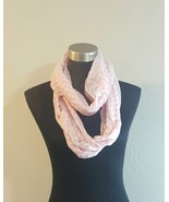 Pink and White Chevron Stripe Lightweight Sheer Infinity Cowl Womens Scarf  - $7.94