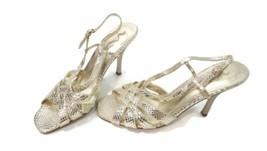 NINA GOLD Womens Shoes Sandals Size 10 M Euro size 40 Dressy croc Print Nice  - $30.40