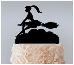 Wedding,Birthday Cake topper,Cupcake topper,Sexy Witch Broomstick : 11 pcs - $20.00
