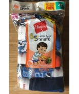 HANES Boys BRIEFS Size 4T NEW (open package) 6 pair HANES TODDLER - $12.82