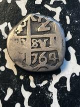 1764 Bolivia 2 Reales Cob Lot#JM1498 Silver! - $93.50