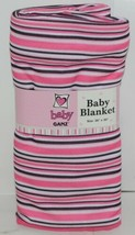 Baby Ganz Girl Pink Black White Stripped Matching Gift Set image 2