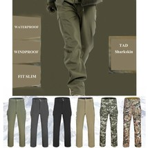 Outdoor MilitaryTactical  Casual Pants Mens Cargo Pant Shark Skin Soft S... - $39.78