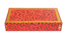 "Joy of Light Designer Matches Orange & Pink Cheetah Print Embossed 4"" Ma... - $6.99"