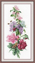 Cross Stitch Kit Hand Embroidery Flowers Animals Birds - $37.00