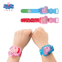 Original New Peppa Pig George Watch Band Model Doll Action Figure With M... - $9.49