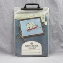 Crewel Kit Flying Cloud Wall Hanging 7 x 9 Ship At Sea Complete Sealed V... - $35.75