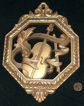 Vtg 1970's Homco 7402 Remplacement Musical Instruments Mur Décor Plaque USA Made - $18.38