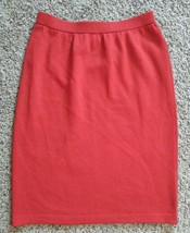 St John Collection Marie Gray Red Santana Knit Pencil Skirt 8 - $45.59