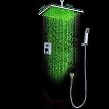 Cascada Luxury Bathroom Shower Set Rainfall LED Shower Head, Double-Func... - $791.95