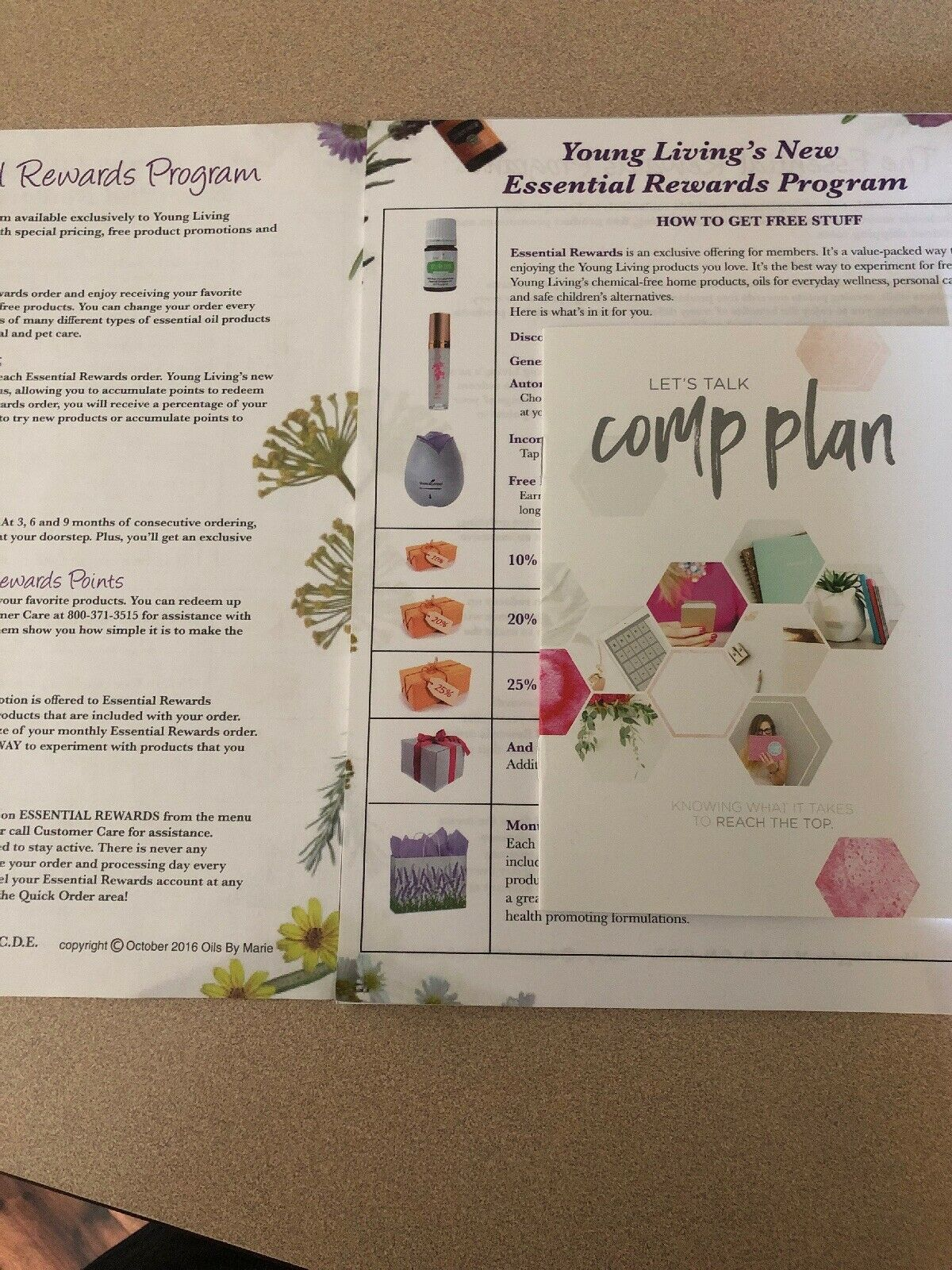 Primary image for Young Living Essential Rewards Sheet And Comp Plan Booklet