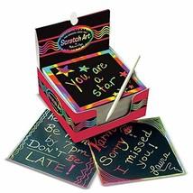 Melissa Doug Scratch Art Box of Rainbow Mini Notes Arts Crafts Wooden St... - $19.89