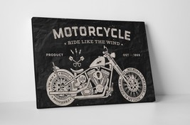 "Ride Like Wind Motorcycle Pop Art Gallery Wrapped Canvas Print 30""x20 or... - $42.52+"
