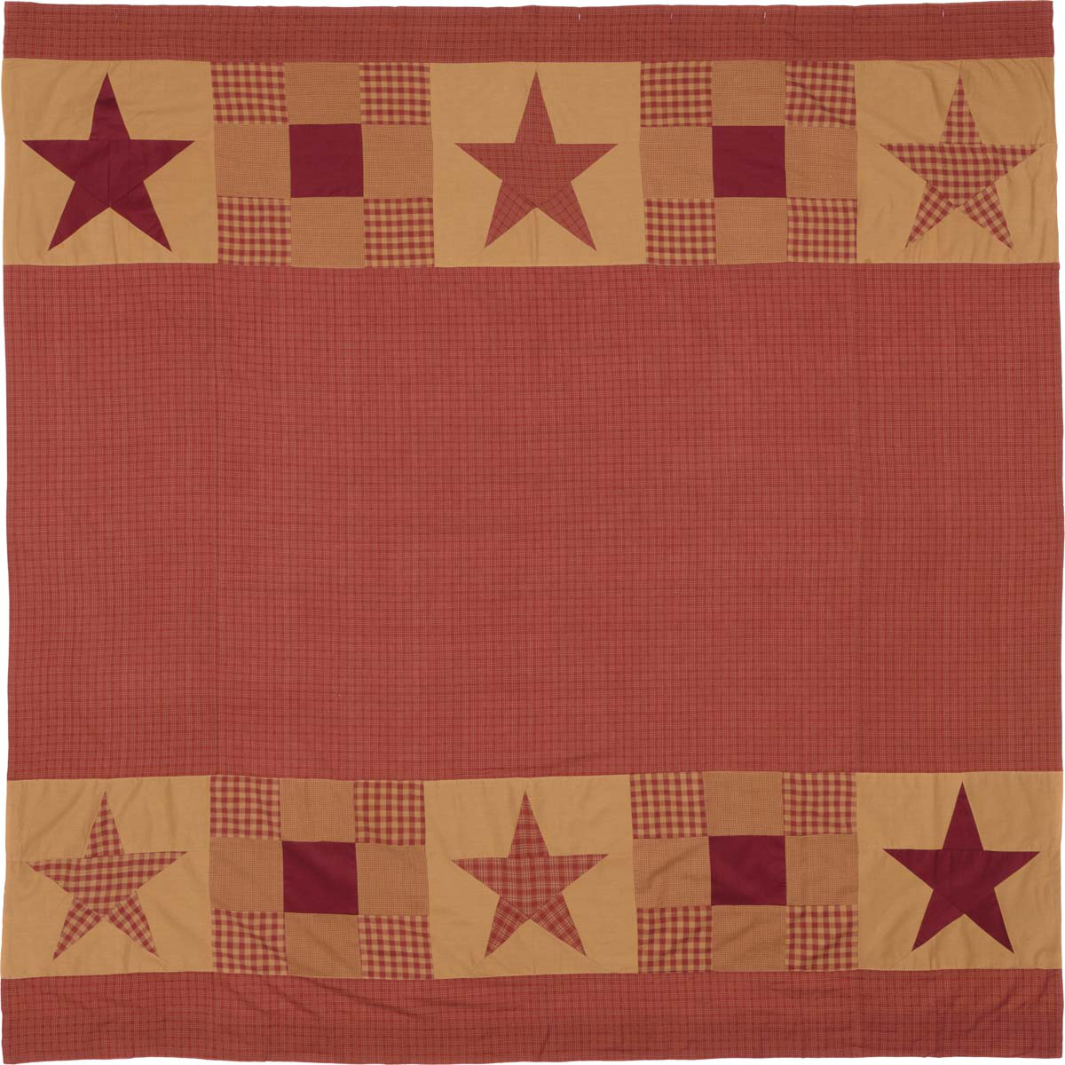 Ninepatch Star Shower Curtain - Patchwork Borders - Vhc Brands