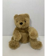 Play by Play vintage plush brown tan teddy bear red nose bow green dots ... - $9.89