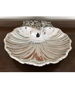 Reed & Barton 200 Silverplated Rococco shell tray 3 grapevine footed tray! - $26.24