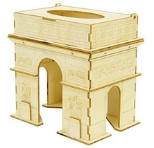 Wooden puzzle kigumi (half-timbered) Arc de Triomphe Tissue Case - $44.43