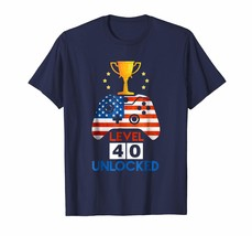 Brother Shirts - Level 40 Unlocked Shirt Funny 40th Video Gamer Birthday... - $19.95+
