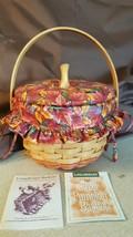 Longaberger 1996 SMALL PUMPKIN Combo Basket 16012 Fall Foliage Liner Pad... - $39.95