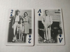 2 Single Elvis Playing Cards Black and White Childhood Photos Scrapbooking Junk  - $2.48