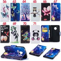 For Motorola Moto G6 G5 Plus Panda Owl Dog Stand Wallet Leather Flip Cas... - $9.40