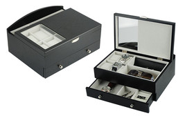 Decorebay Executive Mens Black Wood Valet Storage Organizer Men's Jewelr... - €71,78 EUR