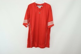 Vtg 90s Adidas Mens Large Spell Out All Over Print Soccer Football Jerse... - $24.70