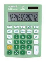 Monami MC-103 12 Digits Dual Powered Standard Function Desktop Calculator (Green