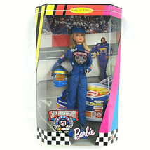 50th Anniversary Nascar Barbie 1998  20442 Vintage Collectable - $20.77