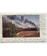 Railroad Train Above Boulder Park Moffat Line Colorado 1906 postcard - $6.44