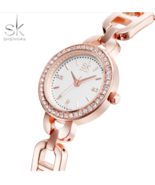 SK® New Women Jewelry Fashion Wrist Watch Diamond Golden Bracelet Watches - $29.96