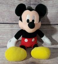 "Disney Plush Mickey Mouse Stuffed Animal 10"" 2010 Red Black White Yellow - $9.69"