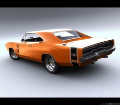 1969 Dodge Charger rear 24x36 inch poster or 8x10 photo - $18.99