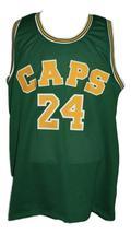 Rick Barry #24 Washington Caps Aba Basketball Jersey New Sewn Green Any Size image 1