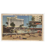 Kenilworth Hotel Miami Beach Florida 1952 linen postcard - $5.94