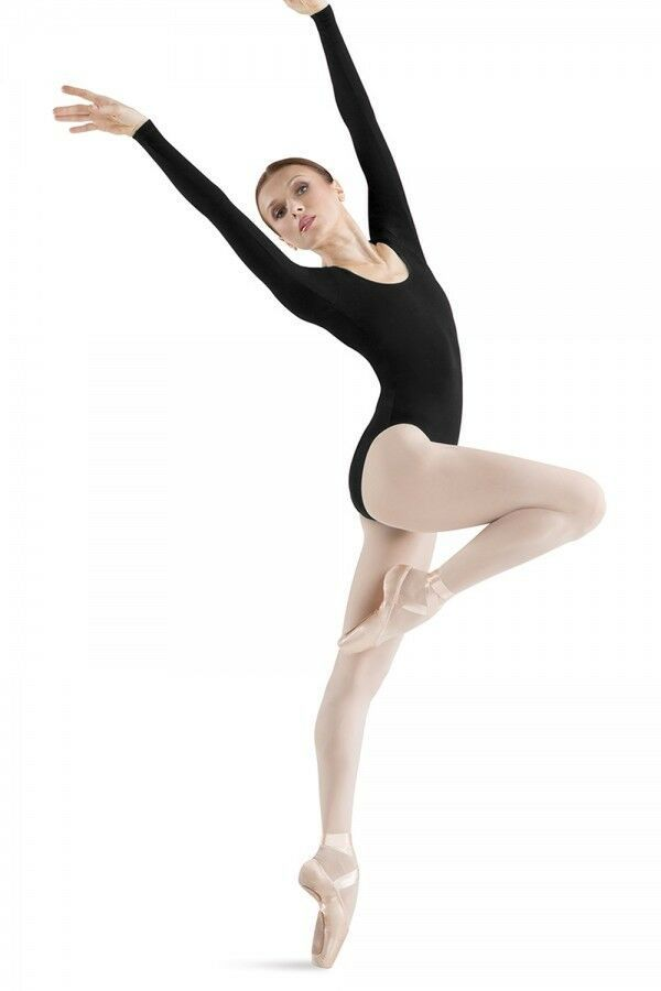 Primary image for Vintage Bloch L5409 Women's Petite/Extra Small (2-4) Black Long Sleeve Leotard