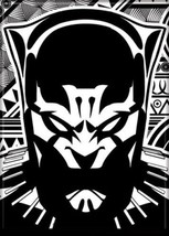 Marvel Comics The Black Panther Black/White Graphic Art Refrigerator Magnet NEW - $3.99