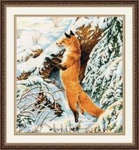 Cross Stitch Kit Hand Embroidery Animals Fox Winter - $37.00