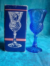 Vintage 1976 Fostoria Avon George Washington Elegant Cobalt Blue Chalice... - $7.66