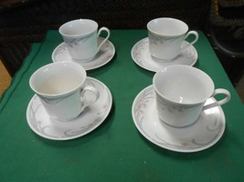 Beautiful Gibson China.......Set Of 4 Cups & Saucers - $14.44