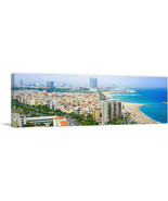 ARTCANVAS Barcelona, Spain - Beaches and Skyline Panoramic - $59.99+