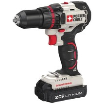 PORTER-CABLE PCC608LB 20-Volt MAX* Compact Cordless and Brushless Drill - $135.00