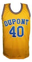 Randy Moss #40 Dupont High School Basketball Jersey New Sewn Yellow Any Size image 4